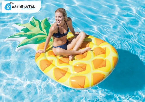 RENTAL FLOATIES di bajo, sewa pinneaple mat bajo, harga sewa floaties labuan bajo, bajo rental nonstop rental solution, lokasi bajo rental 2021