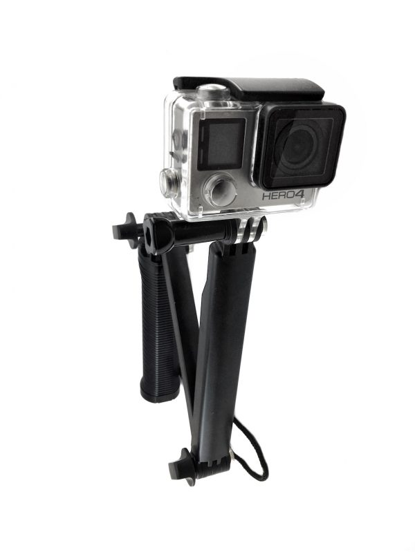 Three way stick gopro labuan bajo, bajo rental, floating stick gopro hero 5, underwater case for gopro, rent gopro komodo, labuan bajo rental center.